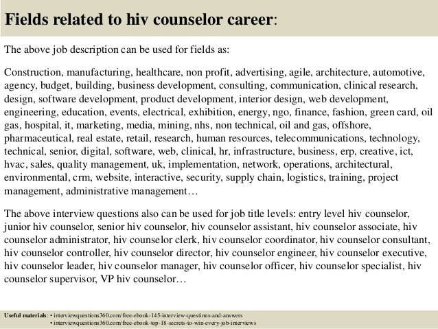... 18. Fields Related To Hiv Counselor ...