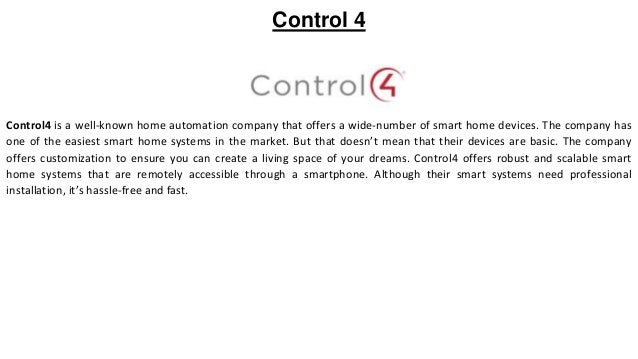 Top 10 home automation companies in 2019