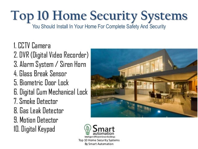 Etonnant Top 10 Home Security Systems By Smart Automation; 3. Top ...
