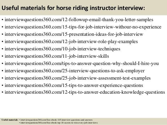 Top 8 Horse Riding Instructor Resume Samples. Vlsi Design Engineer ...
