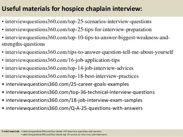 14 useful materials for hospice chaplain