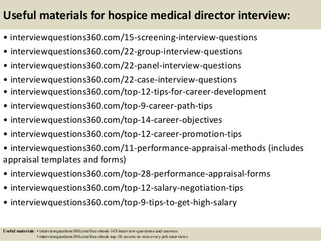 ... 16. Useful Materials For Hospice Medical Director ...