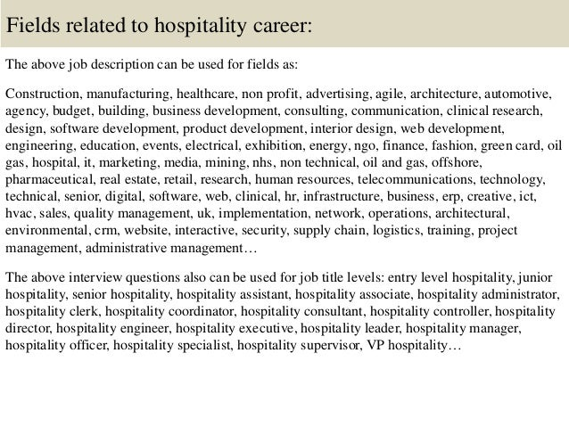 Top 10 hospitality interview questions and answers
