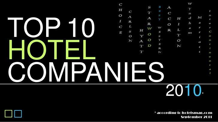 Top 10 hotel companies 2010