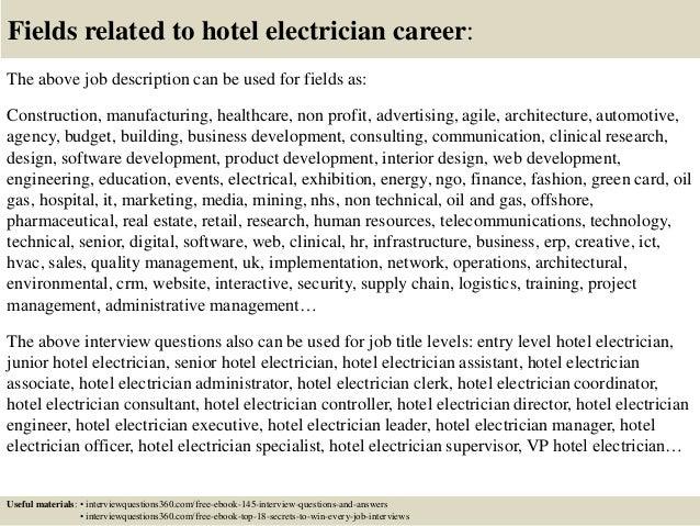 electrical technician job description