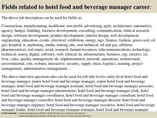 beverage manager job description - Hizir kaptanband co