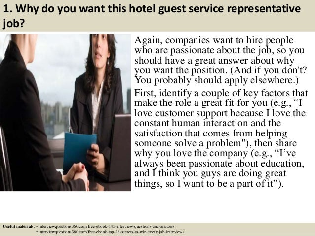 Top 10 hotel guest service representative interview questions and ans…