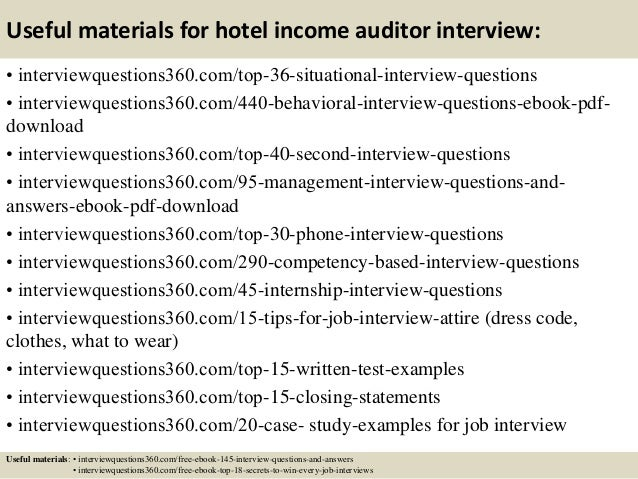 Superb ... 13. Useful Materials For Hotel Income Auditor ...
