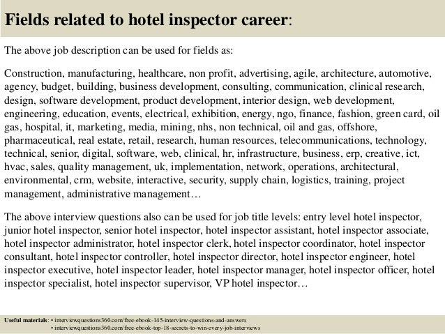 Top 10 hotel inspector interview questions and answers