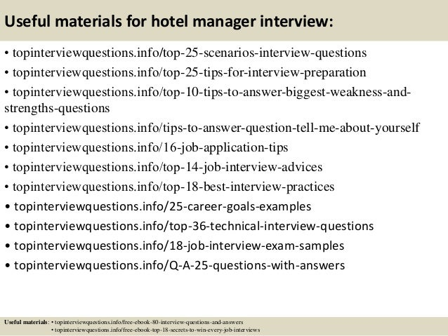 13 useful materials for hotel manager interview - It Manager Interview Questions And Answers