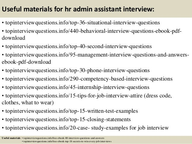 Top 10 Hr Admin Assistant Interview Questions And Answers