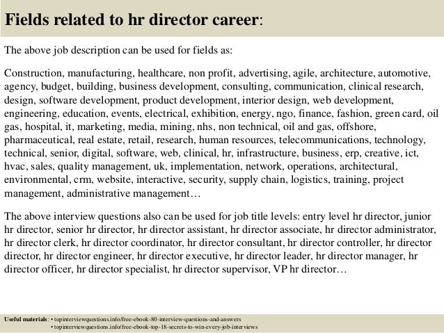 Top  Hr Director Interview Questions And Answers