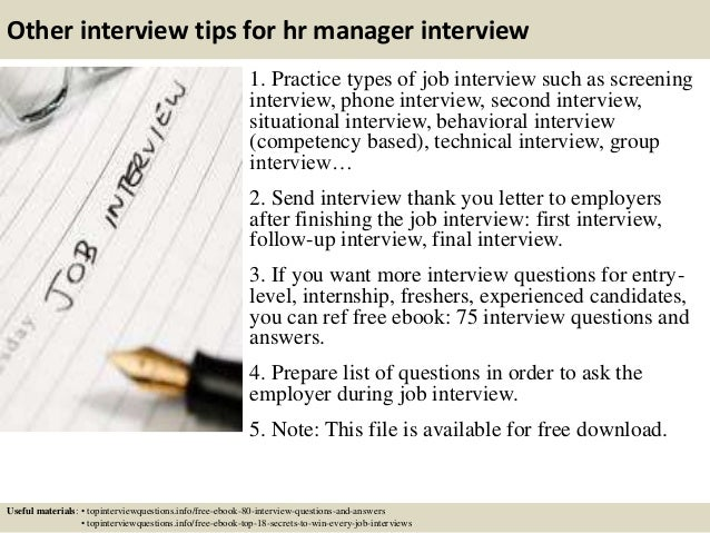 Top 10 hr manager interview questions and answers