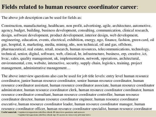 Hr Coordinator Job Description | Top 10 Human Resource Coordinator Interview Questions And Answers