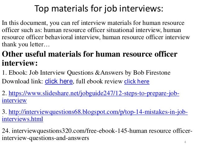 HRD - Human Resources Interview Questions & Answers