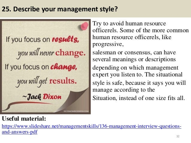 human resource management questions and answers Interview questions and answers for hr managers answer: human resource managers deal with personnel and must possess appropriate personal and management.