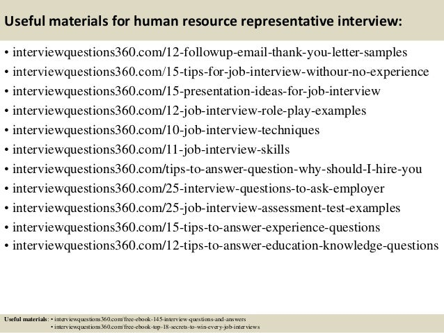 Top 10 human resource representative interview questions and answers 15 useful materials for human resource fandeluxe Gallery