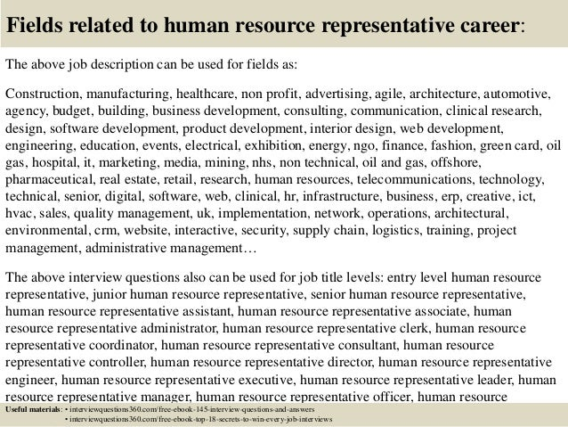 Top 10 human resource representative interview questions and answers 18 fields related to human resource fandeluxe Gallery