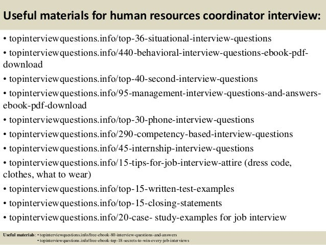 12 useful materials for human resources coordinator interview - Hr Coordinator Interview Questions And Answers