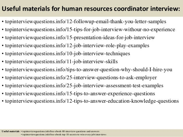 14 useful materials for human resources coordinator interview - Hr Coordinator Interview Questions And Answers