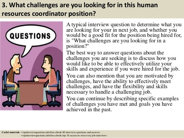Top 10 human resources coordinator interview questions and answers
