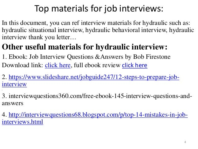 Top 36 hydraulic interview questions with answers pdf