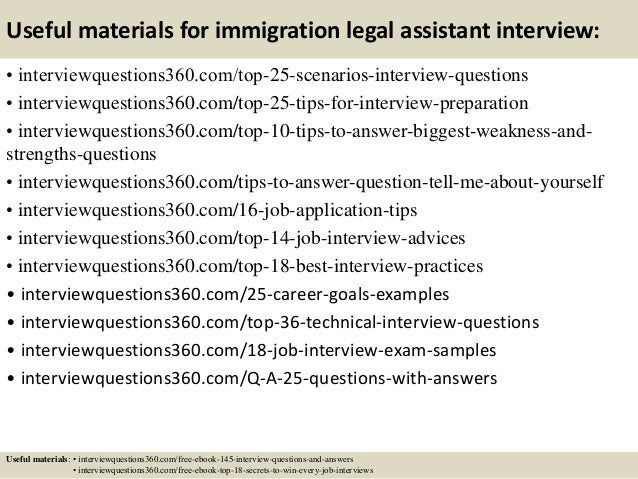 Top  Immigration Legal Assistant Interview Questions And Answers