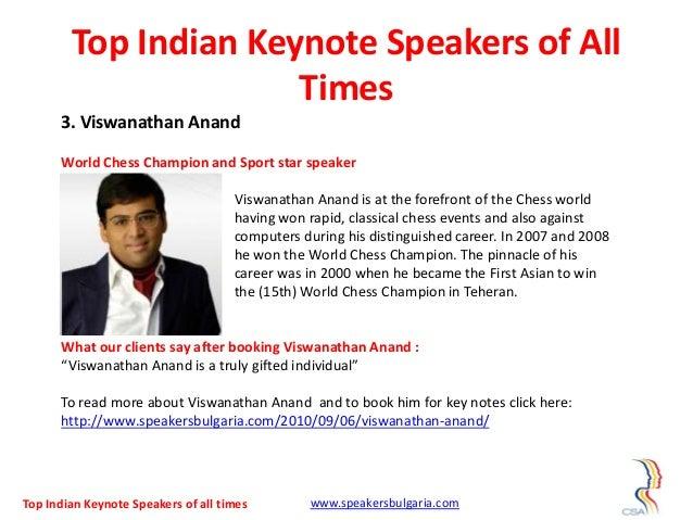 Top 10 indian keynote speakers of all times