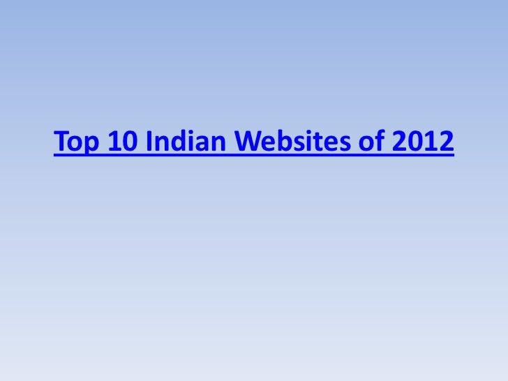 Top 10 Indian Websites of 2012
