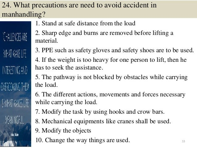 safety interview questions and answers pdf