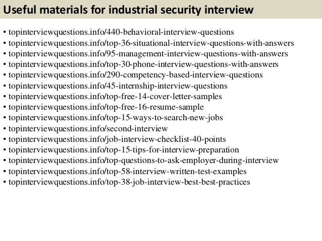 top 10 industrial security interview questions with answers