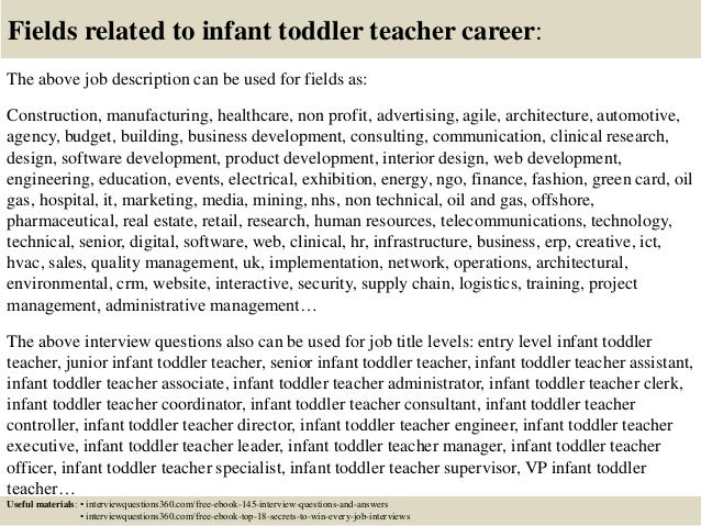 top 10 infant toddler teacher interview questions and answers