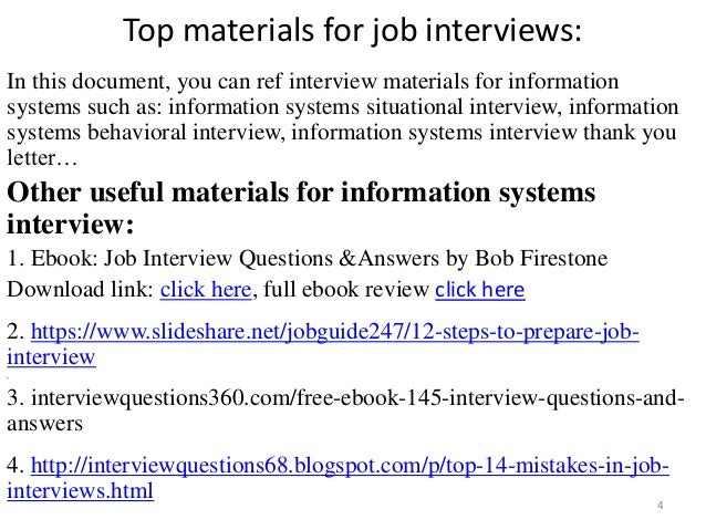 Top 36 information systems interview questions with answers pdf