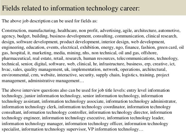 information technology interview questions to ask