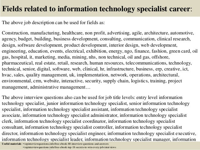 information technology job interview questions and answers