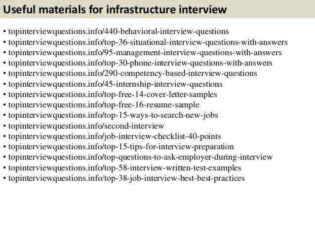 it infrastructure interview questions and answers pdf