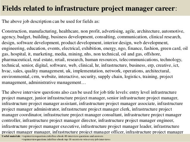 Infrastructure Project Manager Job Description public works – Construction Project Manager Job Description