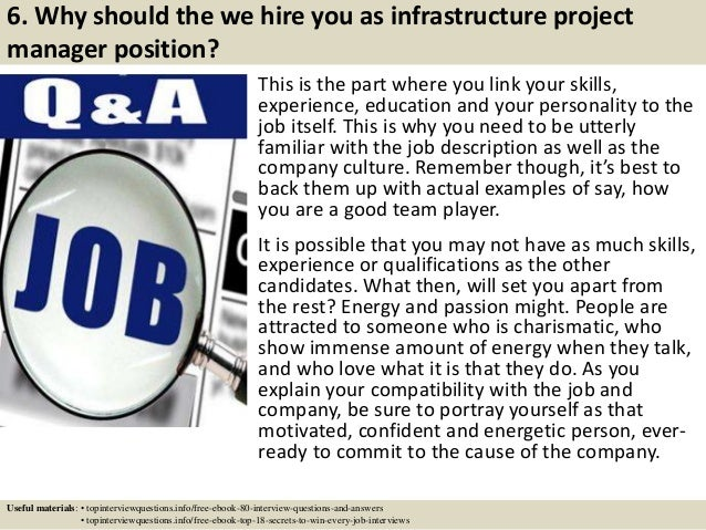Top 10 infrastructure project manager interview questions and answers