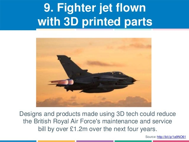 9. Fighter jet flown  with 3D printed parts  Designs and products made using 3D tech could reduce  the British Royal Air F...