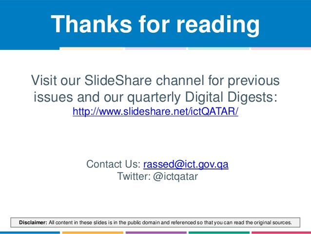 Thanks for reading  Visit our SlideShare channel for previous  issues and our quarterly Digital Digests:  http://www.slide...