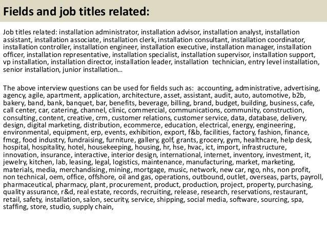 21 fields and job - Hvac Installer Job Description