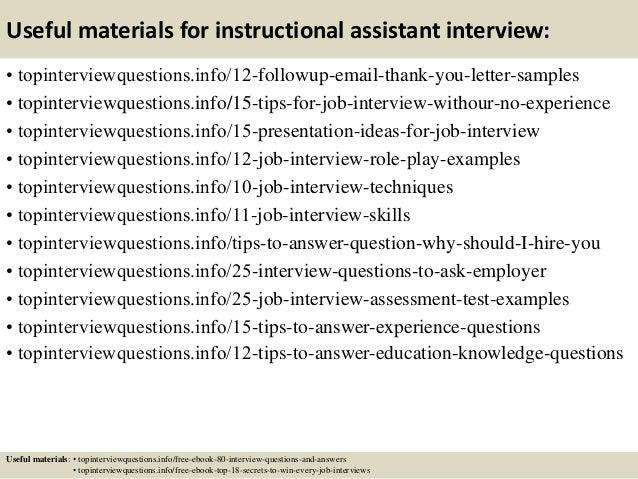 Instructional Assistant Interview Questions Vatozozdevelopment