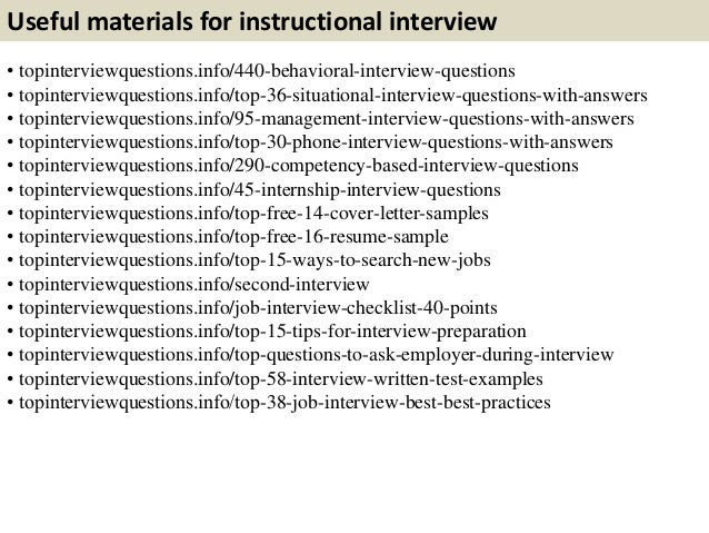 Top 10 Instructional Interview Questions With Answers