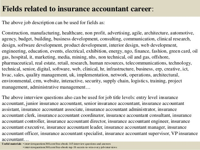 Top 10 insurance accountant interview questions and answers