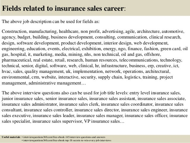 Top 10 insurance sales interview questions and answers