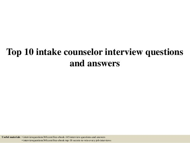 Intake interview report example.