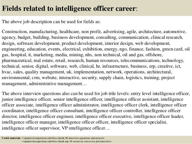 Top 10 intelligence officer interview questions and answers