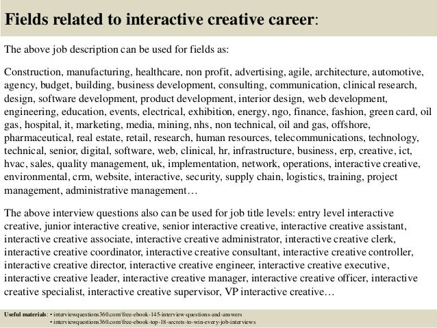 Top 10 interactive creative interview questions and answers