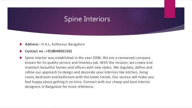 Top 10 interior designers in bangalore
