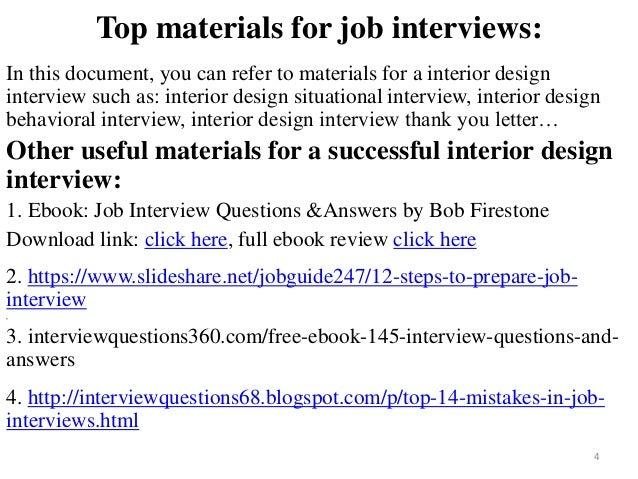 Charming ... Interior Design Interview; 4.